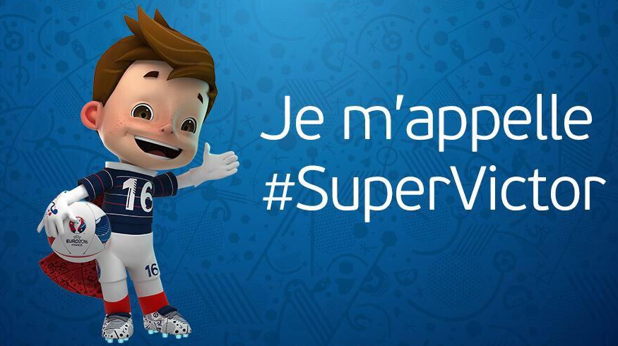 mascotte super victor europei 2016